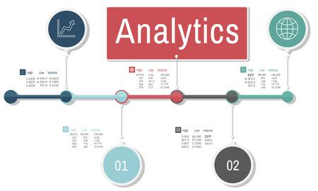 Analytics Analysis Insight Connect Data Concept Stock Photo