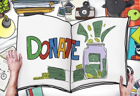 give charity: Donate Give Charity Care Reading Concept