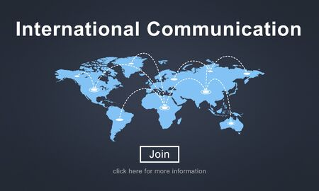 communicate: International Communication Global Communicate Concept