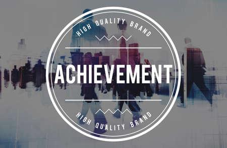 attainment: Achievement Attainment Success Victory Concept Stock Photo