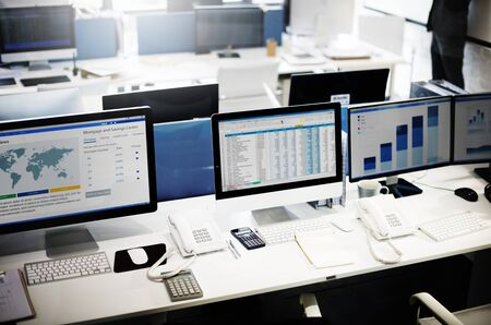 spread sheet: Accounting Workplace Strategy Business Bookkeeping Concept Stock Photo