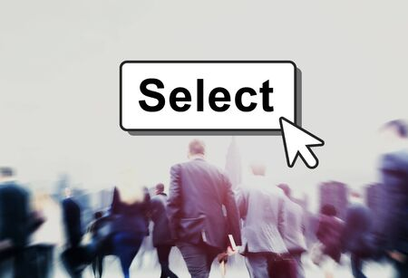 targeting: Select Pick Selecting Compare Selection Targeting Concept Stock Photo