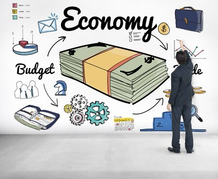 Economy Budget Trade Spending Money Concept Stock Photo