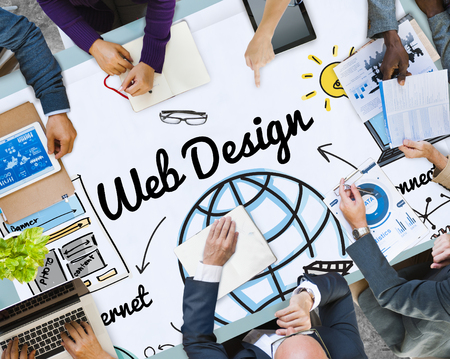 Business planning with web design concept
