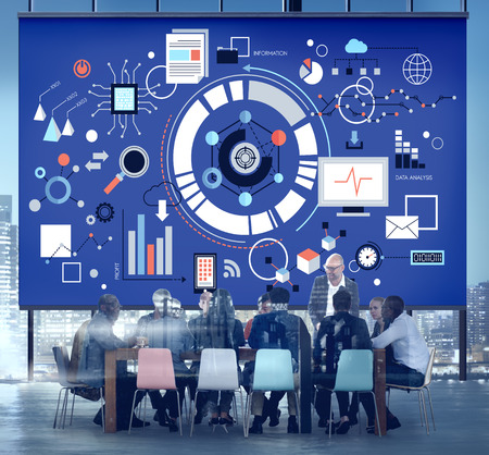 Discussion de réunion sur le concept de développement de projet Banque d'images
