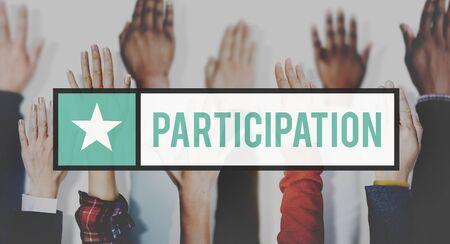 involvement: Participation Join Help Involvement Concept