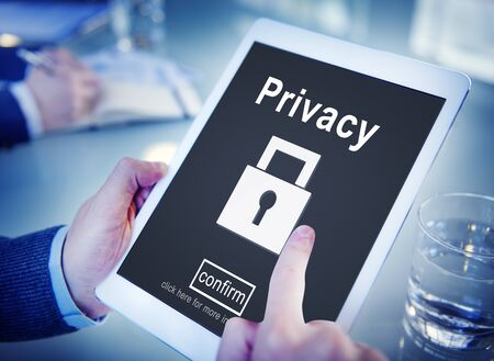 digital security: Privacy Private Secret Security Protection Concept