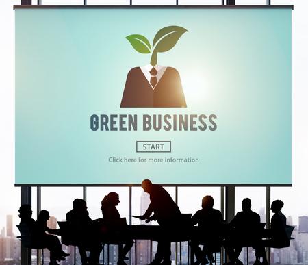 green environment: Green Business Ecology Environment Concept