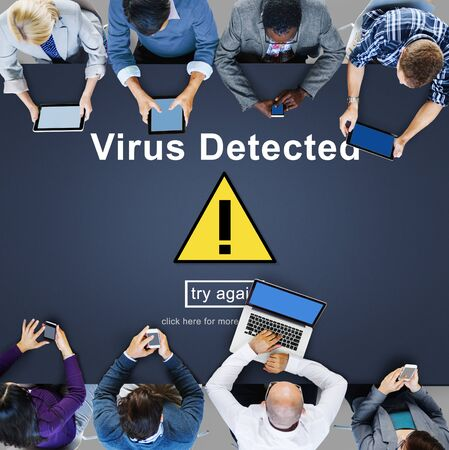 piracy: Virus Detected Alert Hacking Piracy Risk Shield Concept
