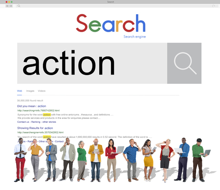 People with action search concept
