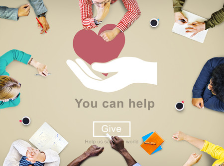 welfare: You Can Help Give Welfare Donate Concept