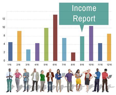 income: Financial Income Report Diagram Concept