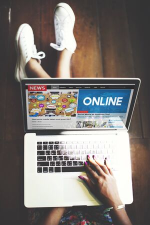 connection concept: Online Internet Digital Connection Networking Concept