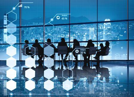 ESTADISTICAS: Análisis de Información Estadística Porcentaje Economía Concept