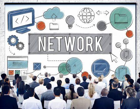 diversity domain: Network Connection Internet Online Technology Concept Stock Photo