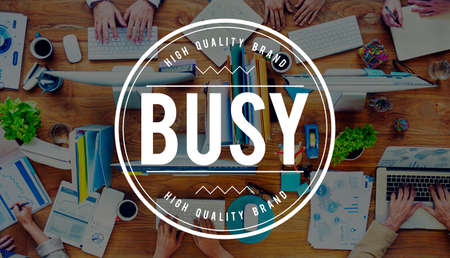 occupied: Busy Working Overload Occupied Multitasking Hard Work Concept