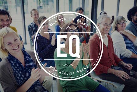 eq: EQ Emotional Quotient Empathy Evaluation Felling Concept Stock Photo