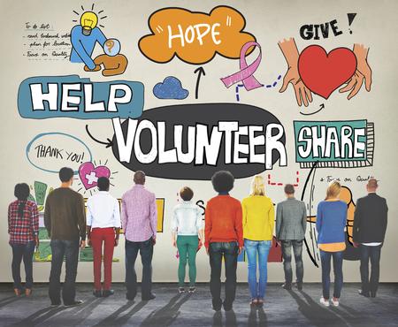Volunteer Voluntary Volunteering Assist Charity Concept Imagens - 54257776