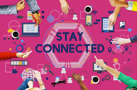 stay: Stay Connected Social Media Technology Innovation Concept