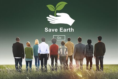 earth friendly: Save Earth Environmental Conservation Global Concept