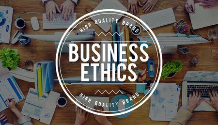 integridad: Ética en los Negocios integridad moral Honestidad Confianza Concept