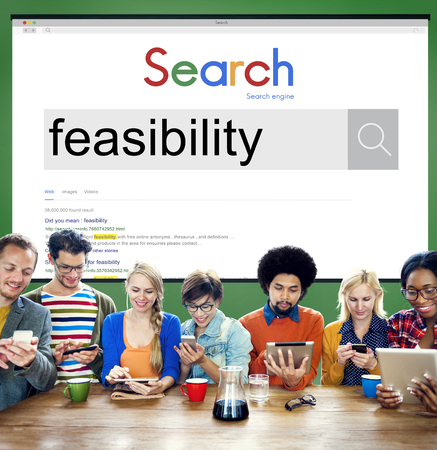 feasible: Feasibility Analysis Planning Possibility Potential Concept Stock Photo