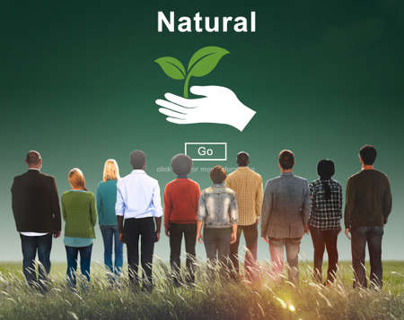man rear view: Natural Ecology Environmental Conservation Nature Life Concept Stock Photo