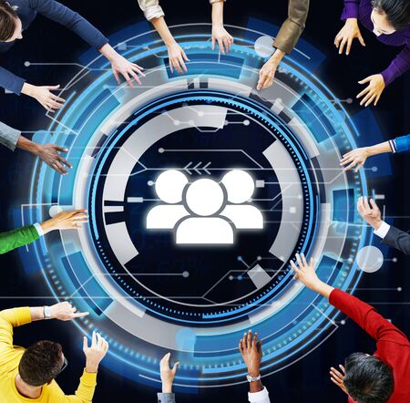 expertise: Technology Team People Hud Teamwork Concept Stock Photo