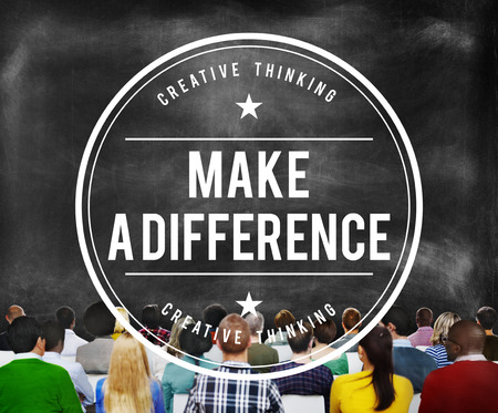 difference: Make A Difference New Ways Positive Thinking Proactive Concept