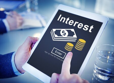 rate: Interest Banking Rate Financial Concept