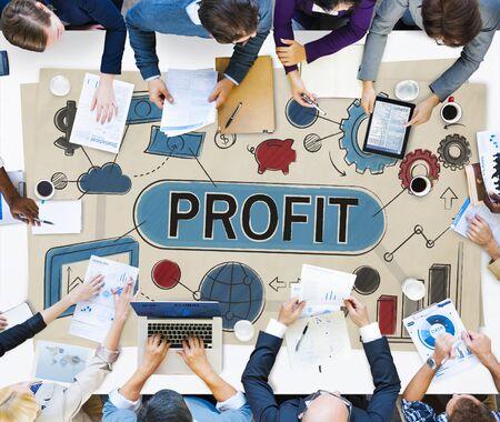 income: Profit Income Savings Banking Money Concept Stock Photo