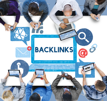 backlink: Backlink Hyperlink Networking Internet Online Technology Concept