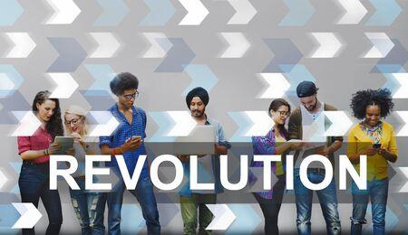 Concepto innovación revolucionaria revolución