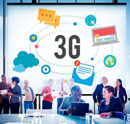 wireless connection: 3G Connection Wireless Telecommunications Mobility Concept