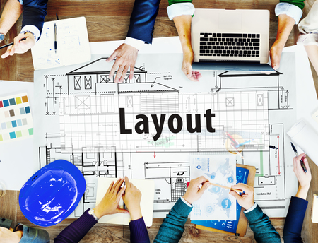 architect drawing: Layout Architect Construct Design Drawing Concept