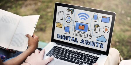 approachable: Digital Assets Accessible Unlock Information Concept Stock Photo