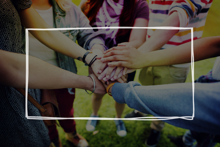 amistad: Equipo de personas Grupo diversidad Concepto Amistad