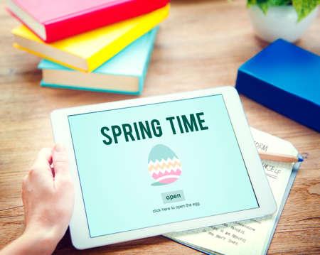 the freshness: Spring Time Seasonal Bloom Freshness Concept Stock Photo