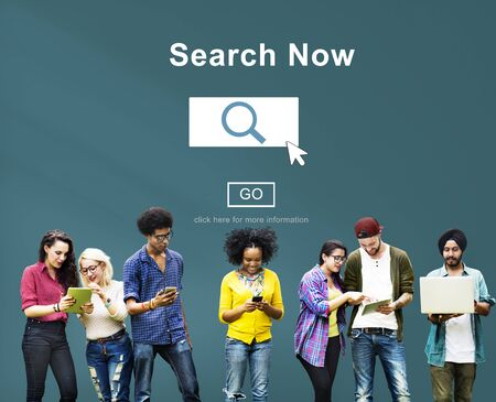 finding: Search Now Exploration Discover Searching Finding Concept
