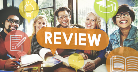 review icon: Review Assessment Auditing Evaluate Concept Stock Photo