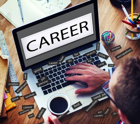 place of employment: Career Expertise Hiring Human Resources Occupation Concept