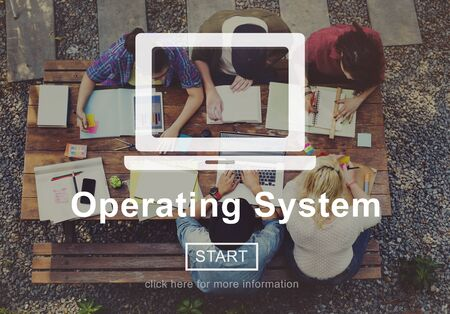 operative system: Operating System Operate Opration Working Concept Stock Photo