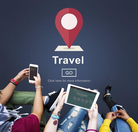destination: Travel Journey Destination Trip Vacation Concept