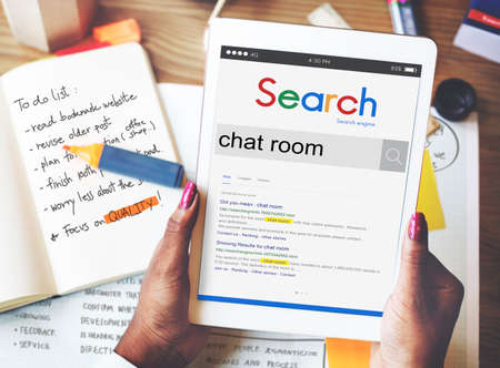 chat room: Chat Room Communication Online Messaging Concept