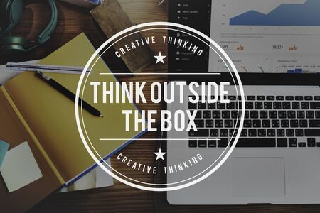 learn: Think Outside the Box Idea Startup Creativity Innovation Concept