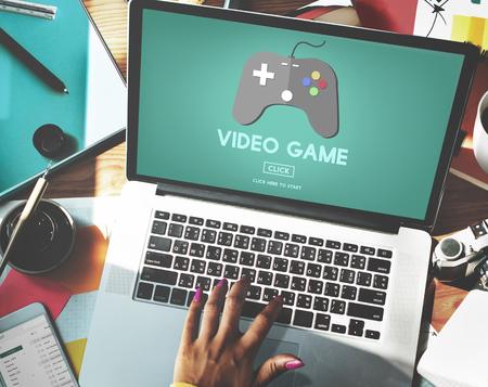 hobbies: Video Game Joystick Hobbies Concept Stock Photo