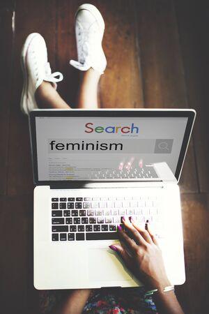 feminism: Feminism Advocacy Belief Equality Movement Concept Stock Photo