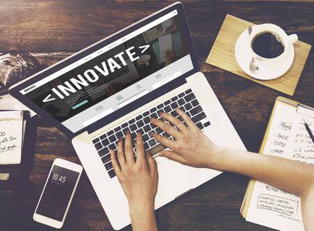 aspiration: Innovate Innovation Technology Development Aspiration Concept Stock Photo