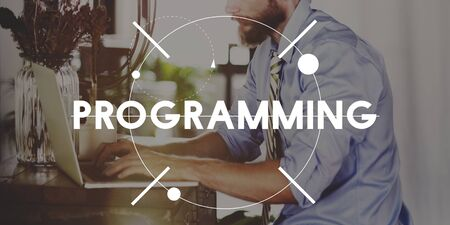implementing: Programming Marketing Implementing Internet Concept Stock Photo