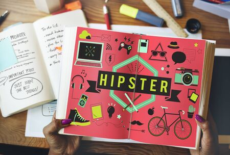 indie: Hipster Lifestyle Style Retro Indie Concept